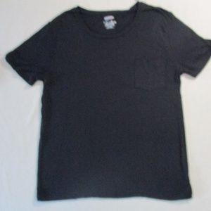 Arizona Jeans Women Top XL Black Short Sleeves 191